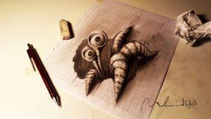dibujos con efecto 3d