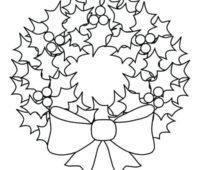 Dibujos de Coronas de Navidad