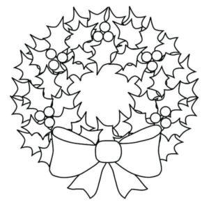 dibujos de coronas de navidad a lápiz