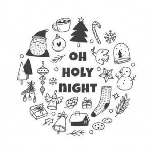 dibujos de coronas de navidad para imprimir