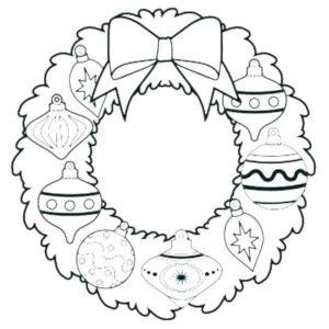 dibujos de coronas navideñas
