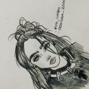 dibujos de billie eilish cgudis