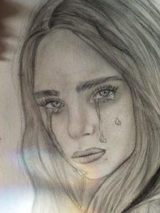 dibujos de la cantante billie ellish