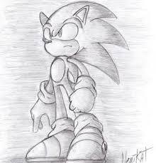 sonic dibujo a lápiz