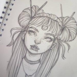 dibujos aesthetic caras
