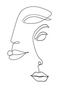 dibujos aesthetic rostros