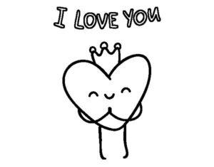 dibujos de amor kawaii con frases