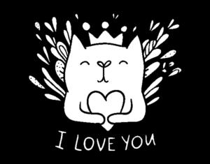 dibujos de amor kawaii i love you