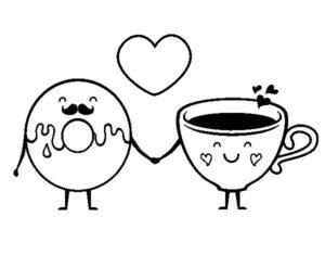 dona y café kawaii