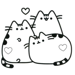 gatitos enamorados kawaii