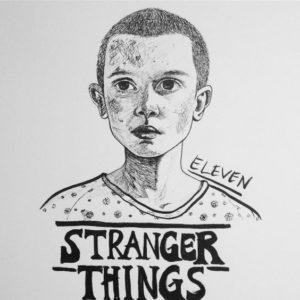 dibujos a lápiz de stranger thigns