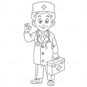 imágenes a lápiz de médicos