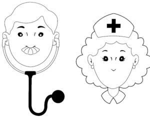 médicos para dibujar gratis